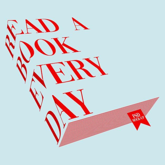 Maquette de livre de typographie PSD Premium
