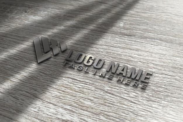 Maquette De Logo 3d Moderne PSD Premium