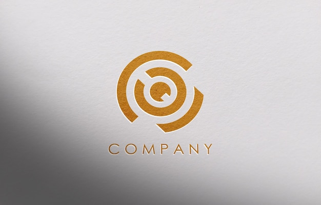Maquette De Logo 3d Pour Entreprise PSD Premium