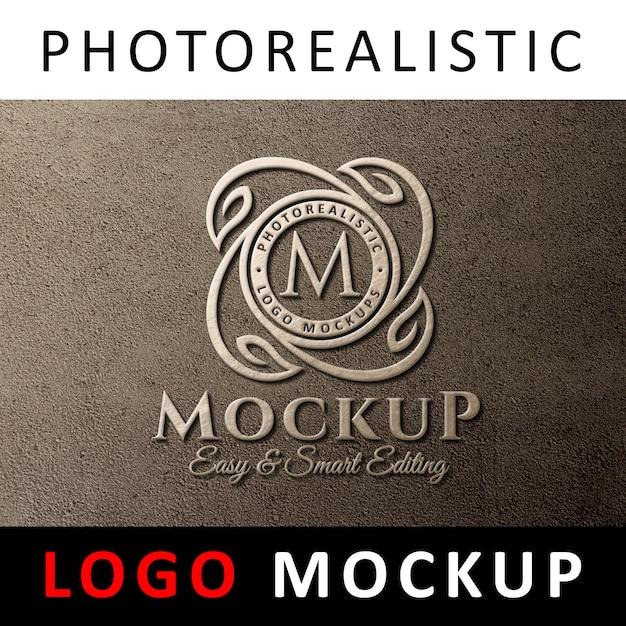 Maquette de logo - affichage du logo 3d sur le mur PSD Premium