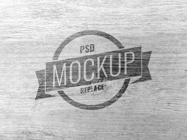 Maquette De Logo En Bois Minimale PSD Premium