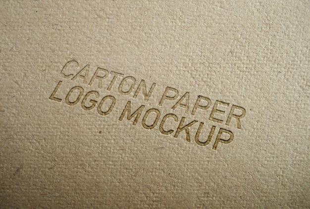 Maquette de logo en carton PSD Premium
