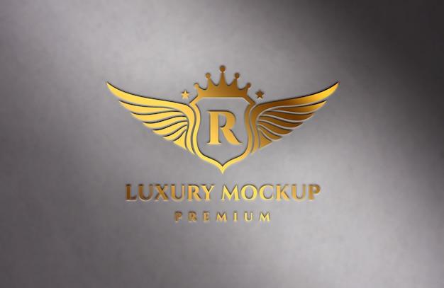 Maquette De Logo De Luxe Doré PSD Premium
