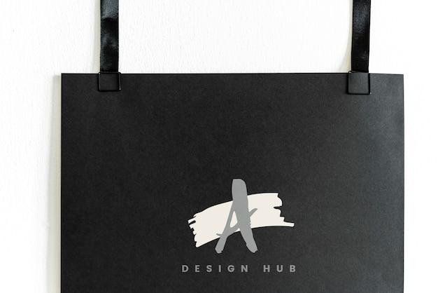 Une Maquette De Logo De Moyeu Design Psd gratuit