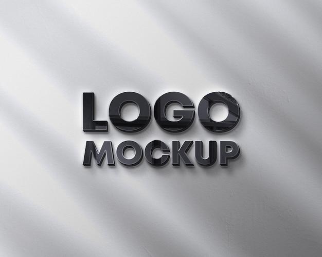 Maquette De Logo Mural Avec Ombre PSD Premium