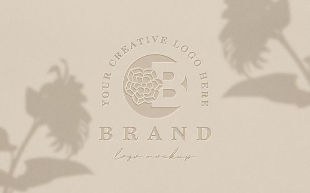 Maquette De Logo Propre Typographie PSD Premium