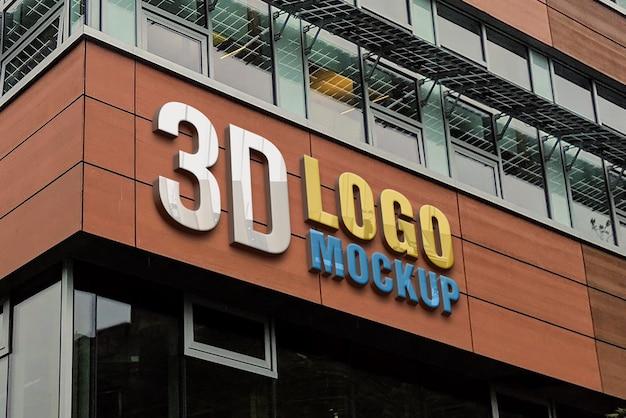 Maquette De Logo De Signe 3d De Vitrine PSD Premium