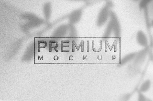 Maquette De Logo Simple Sur La Texture Du Papier Blanc - Couleur Argent PSD Premium