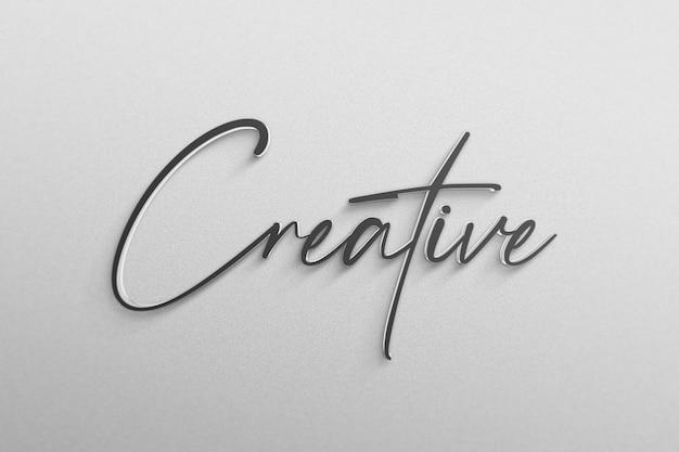 Maquette De Logo Simple PSD Premium