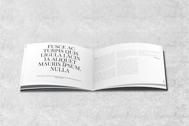 Maquette de magazine ou de brochure landscape PSD Premium
