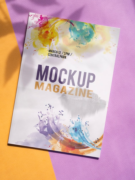 Maquette De Magazine Sur Fond Minimaliste Psd gratuit