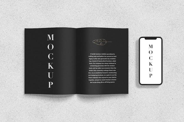 Maquette De Magazine De Lettres Et De Smartphone PSD Premium