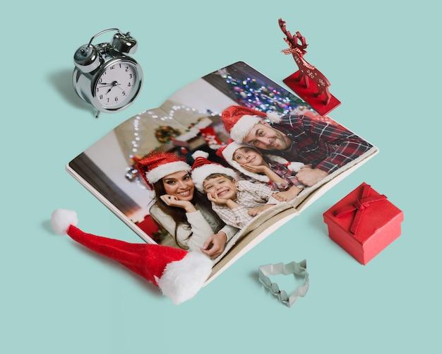 Maquette De Magazine De Noël Décorative Psd gratuit