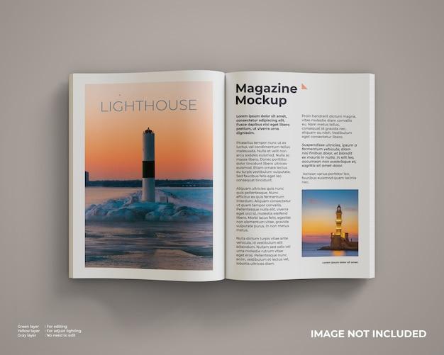 Maquette De Magazine Ouverte PSD Premium