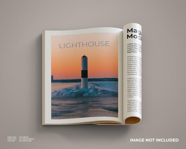 Maquette De Magazines Ouverte Et Pliée PSD Premium