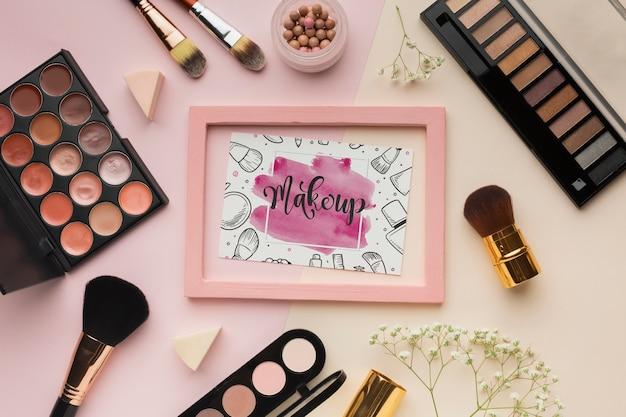 Maquette de maquillage beauté lifestyle Psd gratuit