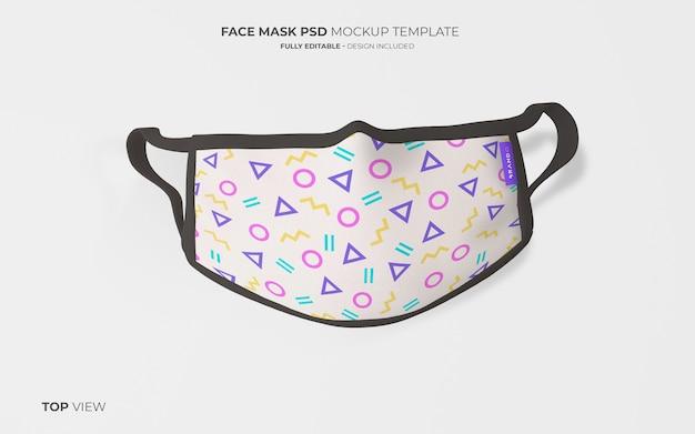 Maquette De Masque De Mode En Vue De Dessus Psd gratuit