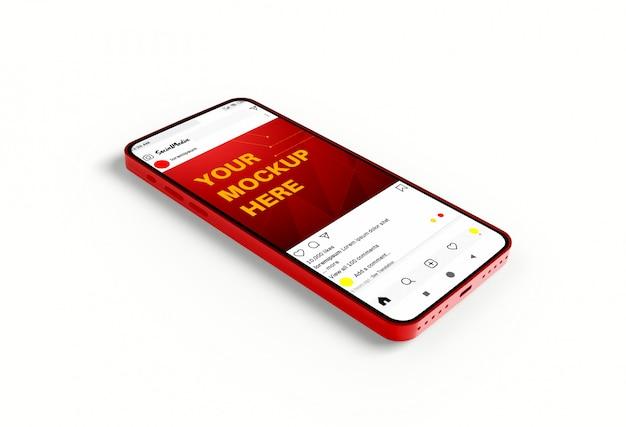 Maquette De Médias Sociaux Sur Smartphone PSD Premium