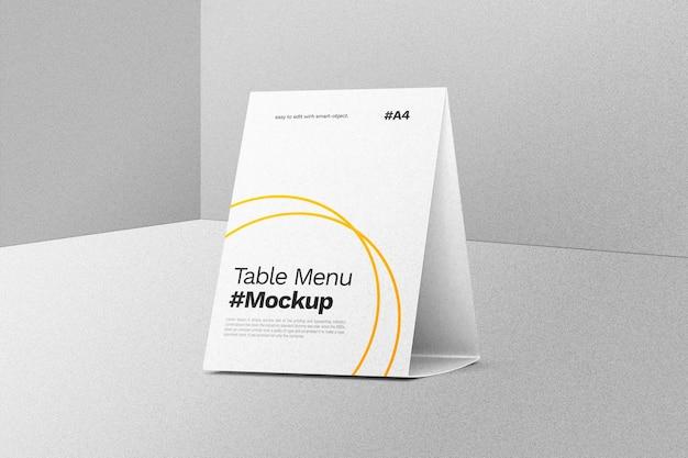 Maquette De Menu De Tente De Table PSD Premium