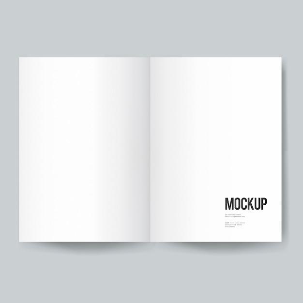 Maquette De Modèle De Livre Ou Magazine Vierge Psd gratuit