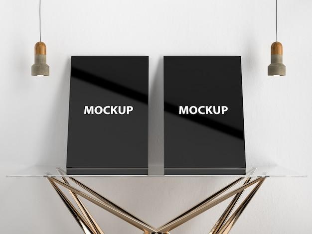 Maquette moderne à double affiche PSD Premium