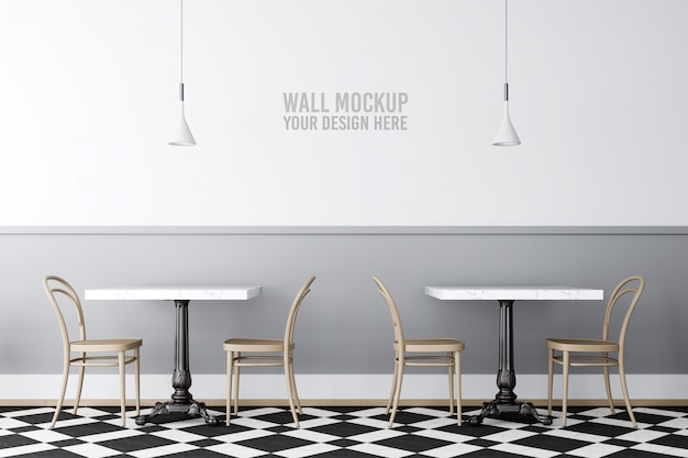 Maquette De Mur De Café Intérieur PSD Premium