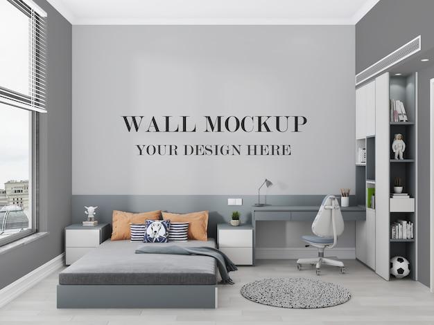 Maquette De Mur De Chambre Ado Moderne Rendu 3d PSD Premium
