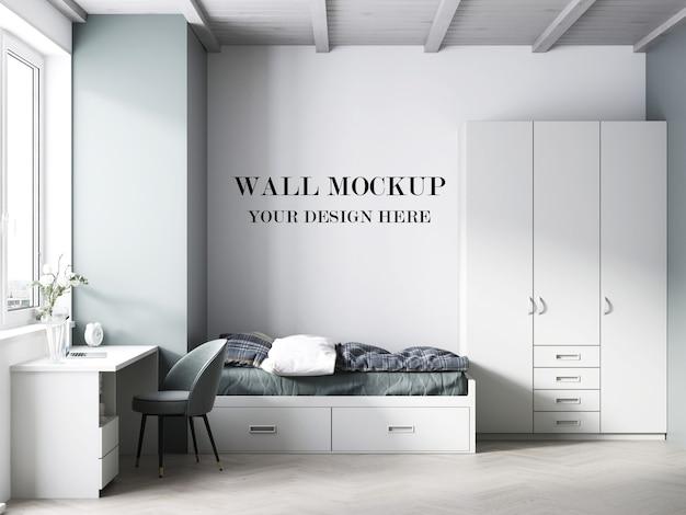 Maquette De Mur De Chambre D'adolescent Rendu 3d PSD Premium
