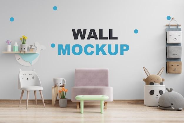 Maquette De Mur Dans La Chambre Des Enfants Rendu 3d PSD Premium
