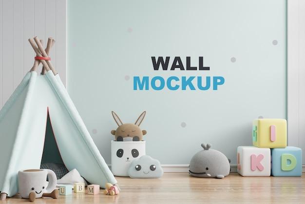 Maquette De Mur Dans Le Rendu 3d De La Chambre Des Enfants PSD Premium