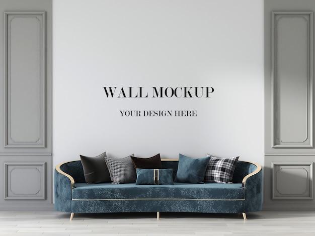 Maquette De Mur De Salon De Luxe Avec Canapé Néo Classique PSD Premium
