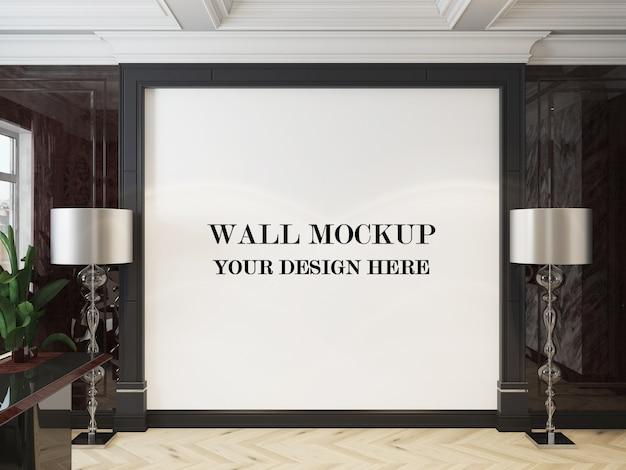 Maquette De Mur De Salon De Style Art Déco De Luxe En Rendu 3d PSD Premium
