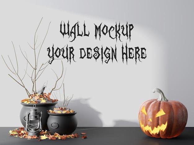 Maquette De Mur Vide Pour Le Rendu 3d De Halloween Day PSD Premium
