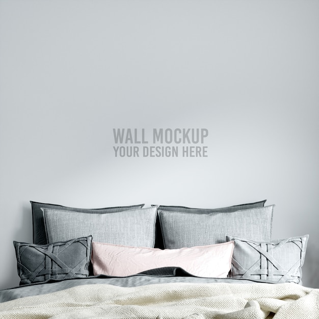 Maquette Murale De Chambre à Coucher Intérieure PSD Premium