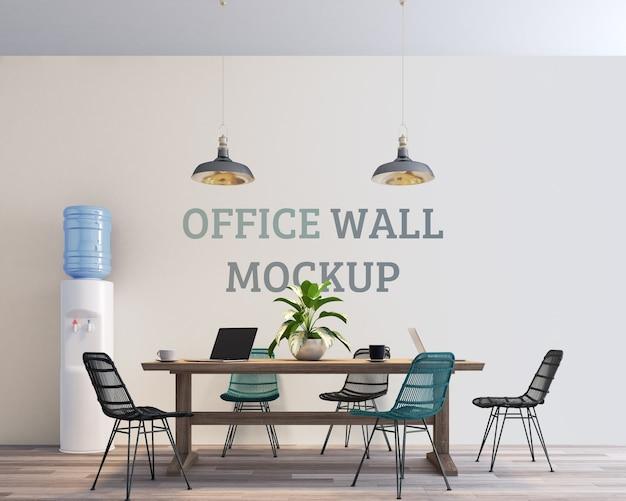 Maquette Murale D'espace De Travail Propre Et Moderne PSD Premium