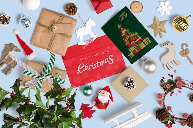 Maquette De Noël Décorative PSD Premium
