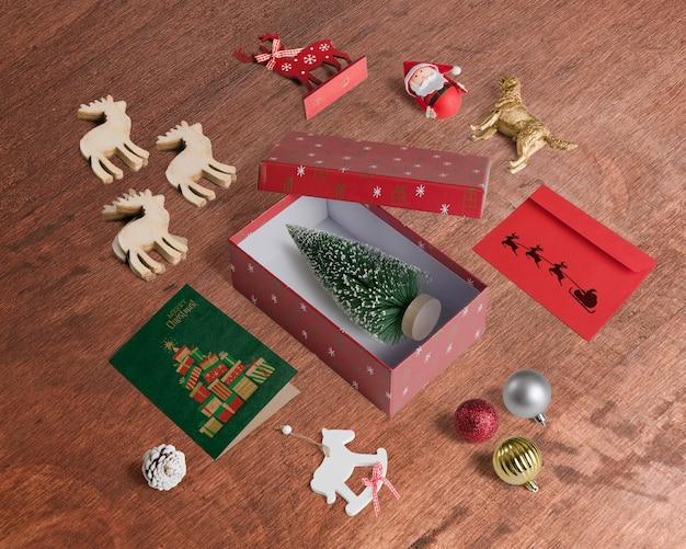 Maquette De Noël Décorative Psd gratuit