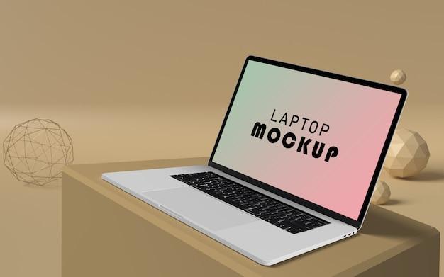 Maquette D'ordinateur Portable Avec Fond Pop Psd Gratuit PSD Premium