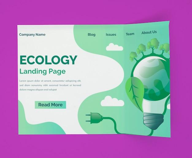 Maquette De Page De Destination écologique Psd gratuit