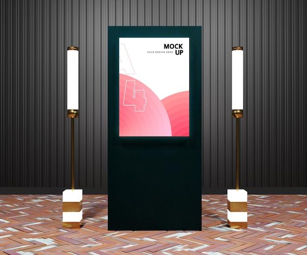 Maquette De Panneau D'affichage Moderne Dans La Ville De Nuit PSD Premium