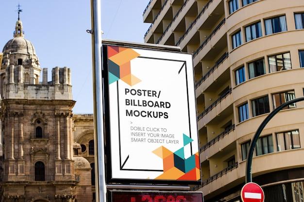 Maquette de panneau d'affichage urbain Psd gratuit