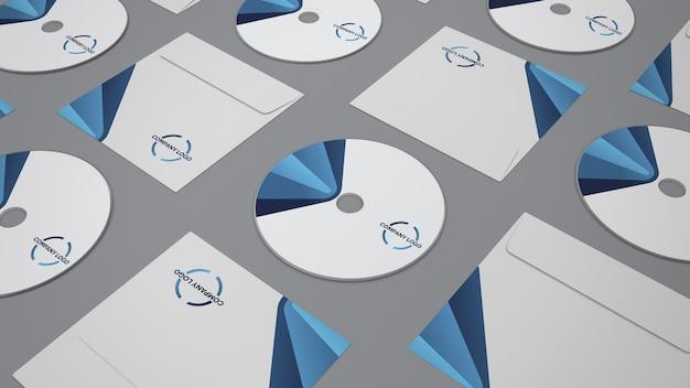 Maquette de papeterie avec cd Psd gratuit