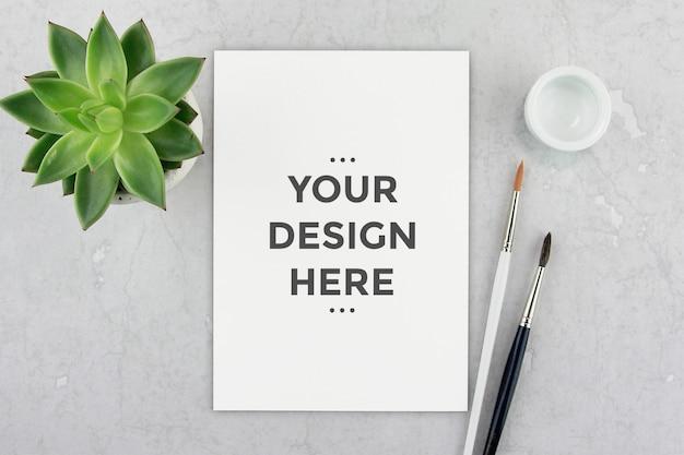 Maquette de papier éditable PSD Premium