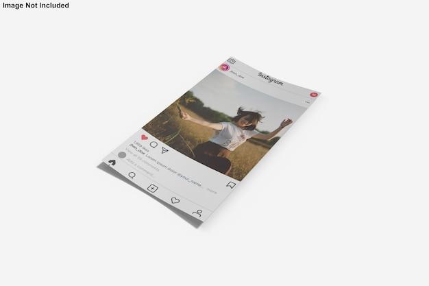 Maquette En Papier Pour La Publication Instagram PSD Premium