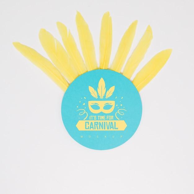 Maquette En Papier Rond Avec Concept De Carnaval Psd gratuit