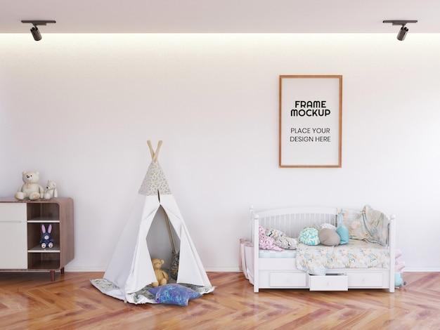 Maquette De Photo De Cadre De Chambre D'enfants Intérieur PSD Premium