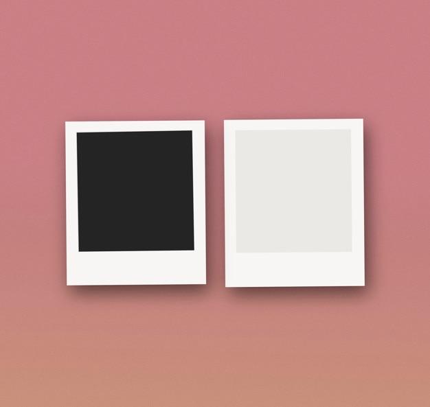 Maquette de photos polaroid Psd gratuit