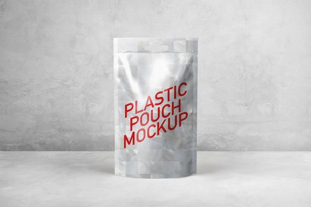Maquette de pochette en plastique PSD Premium