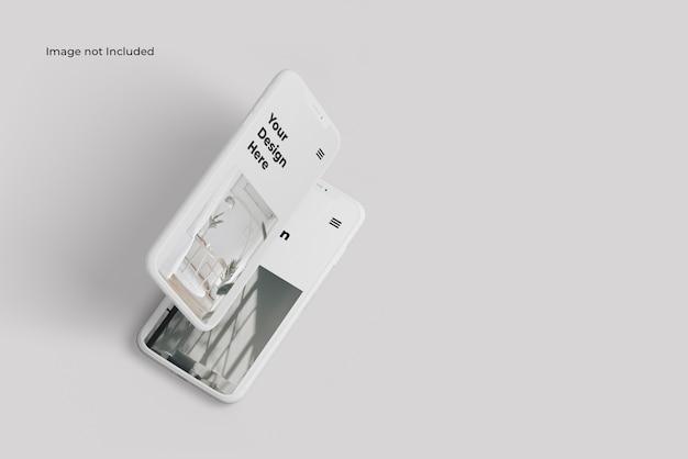 Maquette De Présentation De L'appareil Pour Smartphone En Argile PSD Premium