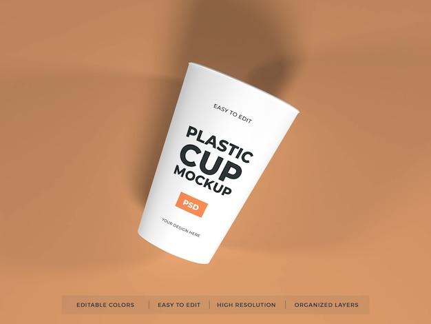 Maquette De Produit De Tasse En Plastique PSD Premium